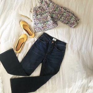 J Crew Billie Demi Boot Cut Jeans. Size 24
